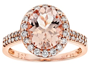 Pink Morganite 14k Rose Gold Ring 2.68ctw