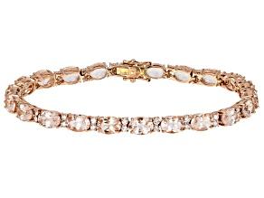 Peach Morganite 14k Rose Gold Bracelet 15.94ctw