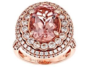 Pink Morganite 14k Rose Gold Ring 7.50ctw
