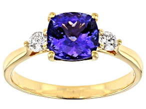 Blue Tanzanite 18k Yellow Gold Ring 1.94ctw