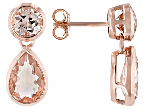 Pink Cor-de-Rosa Morganite™ 14k Rose Gold Earrings 4.50ctw