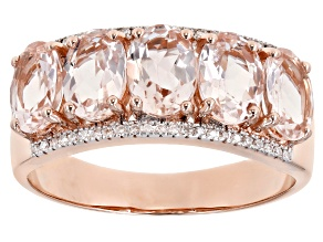 Pink Cor-de-Rosa Morganite™ 14k Rose Gold 5-Stone Ring 3.63ctw