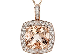 Pink Cor-de-Rosa Morganite™14k Rose Gold Pendant With Chain 6.29ctw