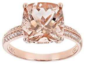 Pink Cor De Rosa Morganite 14K Rose Gold Ring. 2.89ctw