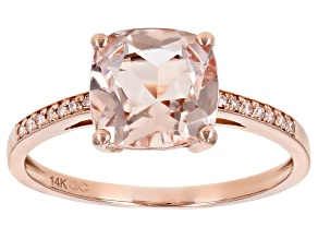 Pink Cor De Rosa Morganite 14K Rose Gold Ring. 1.96ctw