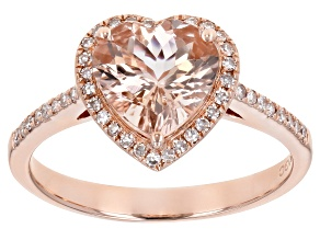 Pink Cor De Rosa Morganite 14K Rose Gold Heart Ring. 1.89ctw