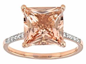Peach Cor-de-Rosa Morganite 14K Rose Gold Ring 3.74ctw