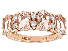 Pink Morganite 14K Rose Gold Ring 3.00ctw