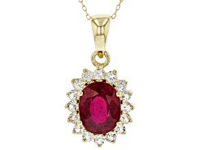 Red Mahaleo(R) Ruby 10K Yellow Gold Pendant With Chain