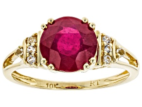 Red Mahaleo(R) Ruby 10K Yellow Gold Ring 1.75ctw