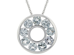 Grey Spinel Rhodium Over 14K White Gold Pendant With Chain 1.50ctw