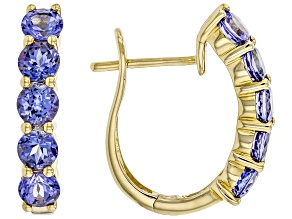 Blue Tanzanite 14K Yellow Gold Earrings 2.00ctw