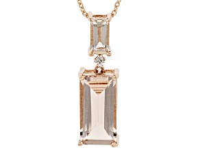 Peach Cor-De-Rosa(TM) Morganite 14K Rose Gold Pendant With Chain 2.34ctw