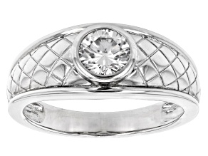 Moissanite Platineve Mens Ring 1.00ct DEW.