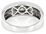 Moissanite Platineve Mens Ring .50ct DEW.