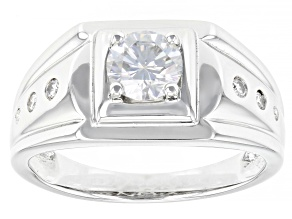 Moissanite Platineve Mens Ring 1.00ctw DEW.