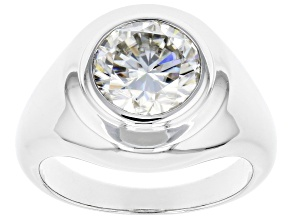 Moissanite Platineve Mens Ring 4.20ct Dew