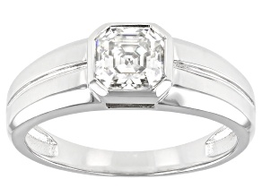 Moissanite Platineve Mens Ring 1.50ct DEW