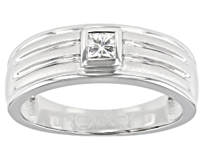 Moissanite Platineve(R) Mens Ring .27ct DEW.