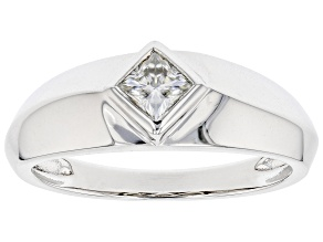 Moissanite Platineve(R) Mens Ring .41ct DEW.