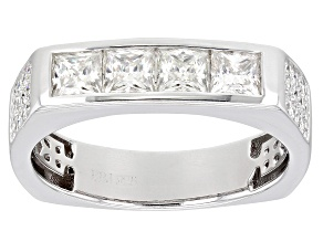 Moissanite Platineve Mens Ring 1.72ctw DEW.