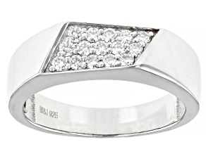 Moissanite platineve mens ring .48ctw DEW.