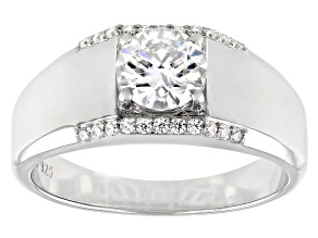 Moissanite Platineve Mens Ring 1.42ctw DEW.