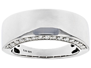 Moissanite Platineve  Mens Ring .60ctw DEW.