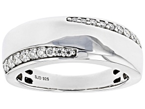 Moissanite Platineve Mens Ring .40ctw DEW.