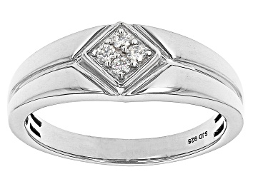 Picture of Moissanite Platineve  Mens Ring .12ctw DEW.