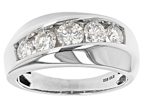 Moissanite Platineve Mens Ring 1.62ctw DEW.