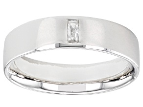 Moissanite platineve mens band ring .09ct DEW.