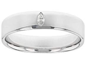 Moissanite platineve mens band ring .07ct DEW.