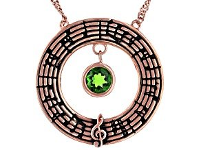 "Chrome Diopside 18K Rose Gold Over Silver ""The Enchanted Butterfly"" Necklace 0.47ct"