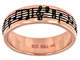 "18K Rose Gold Over Sterling Silver ""The Enchanted Butterfly"" Ring"