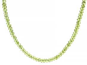Peridot Bead 18K Yellow Gold Over Sterling Silver Necklace