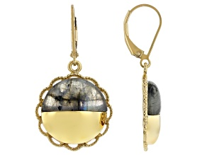 Labradorite 18K Yellow Gold Over Silver Moonlight Over the Countryside Earrings