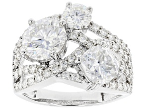 Moissanite Platineve Ring 4.82ctw DEW.