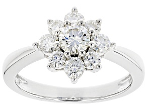 Moissanite Platineve Ring .97ctw DEW.