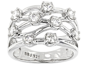 Moissanite Platineve Ring .90ctw DEW.