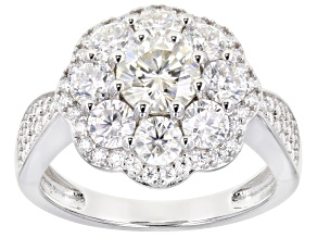 Moissanite Platineve Ring 2.68tw DEW.