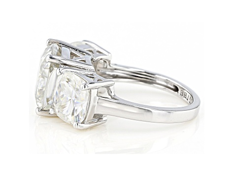 Moissanite Platineve Ring 10.61ctw DEW.