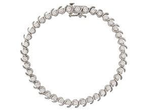 Moissanite Platineve Bracelet 4.10ctw DEW.