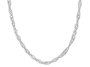 Platineve(R) 18 inch Singapore chain.