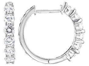 Moissanite Platineve Hoop Earrings 1.56ctw DEW.