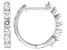 Moissanite Platineve Hoop Earrings 1.56ctw DEW.