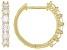 Moissanite 14k yellow gold over sterling silver hoop earrings 1.56ctw DEW.
