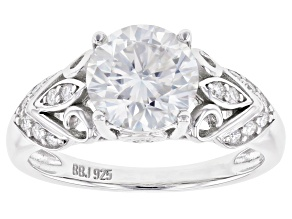 Moissanite platineve ring 2.10ctw DEW.