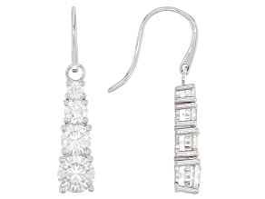 Moissanite platineve earrings 2.30ctw DEW.