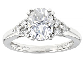 Moissanite Platineve Ring 2.40ctw DEW.